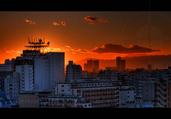 Sunset from our flat looking towards Mount Fuji; Omori, Tokyo, Japan | by Alfie | Japanorama