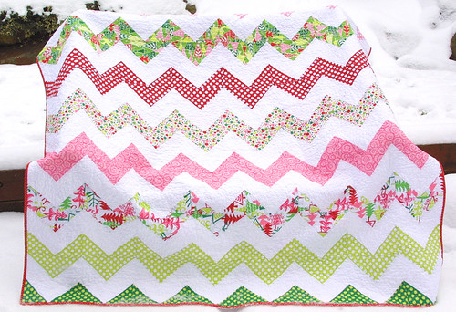 Christmas Zig Zag Quilt | by twiddletails