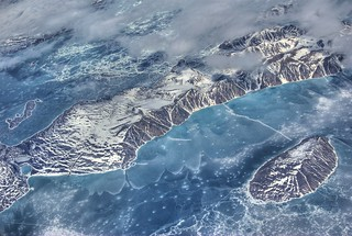 Padloping Island from 30,000 feet. In Nunavut, Canada | by mathewbest