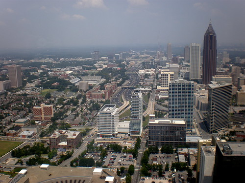 View of Atlanta from Maxim Prime rooftop | by Discover Atlanta