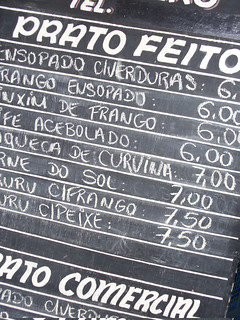Menu, Bahia | by The Hungry Cyclist