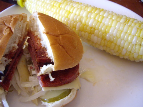 Fried Bologna and Sweet Corn | by swampkitty