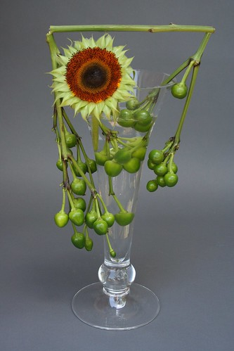 Ikebana with submerged materials flickr photo sharing
