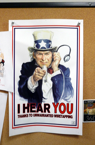 I Hear You wiretapping poster, Mad Magazine, NYC, NY.JPG | by gruntzooki