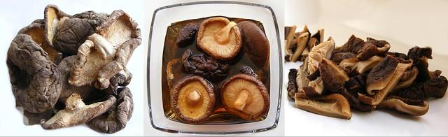 Gedroogde Chinese champignons weken (shiitake)