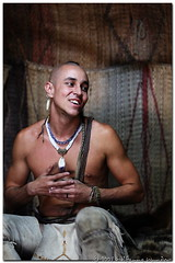 Wampanoag in the Long House | by Wolfgang Wander