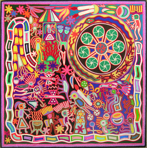 huichol yarn painting | by patti haskins