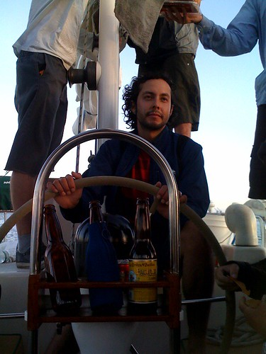 Marko sailing the boat | by electromute