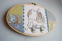embroidered elephant pull toy | by septemberhouse
