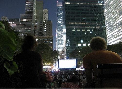 Superman movie in Bryant Park | by Howard N2GOT