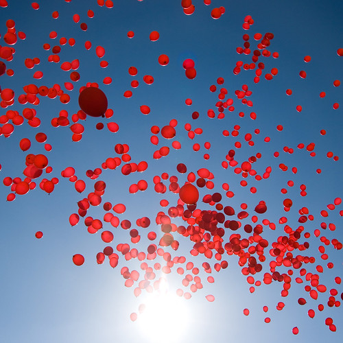 Red balloons | by Jakob E