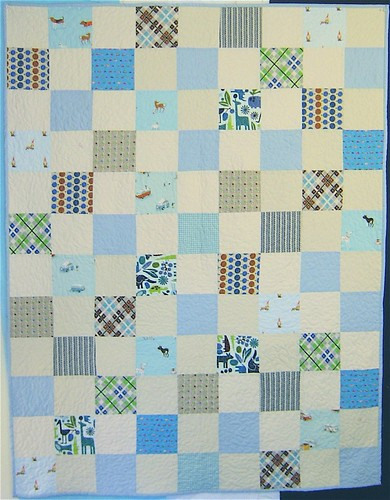 Simple Squares Baby Boy Quilt | by alissahcarlton