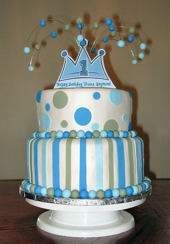 Baby Boy S First Birthday Prince Theme This Cake Was