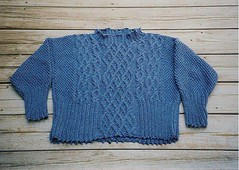 Denim Cable Pullover | by pziarnik