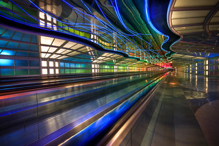 Psychadelic Tunnel at O'Hare | by Greg Benz Photography