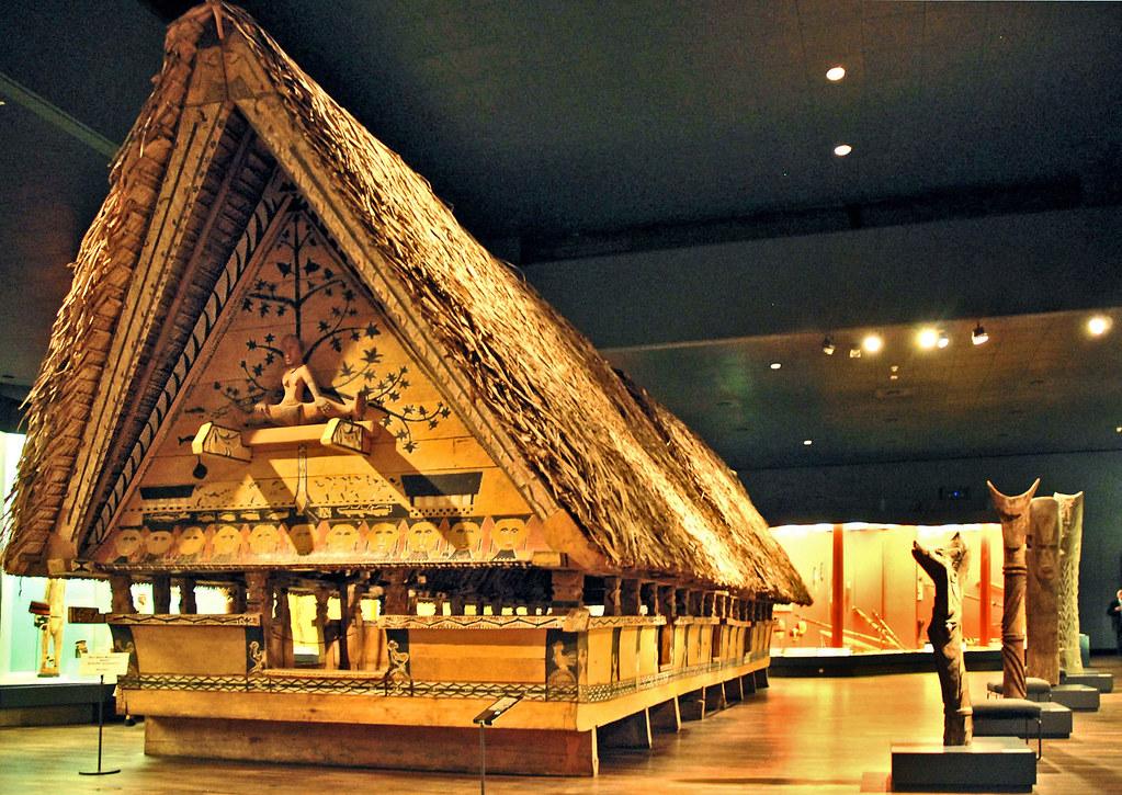 Maison des hommes des Iles Palaos, Micronésie de l'ouest au Musées de Dahlem/Berlin.