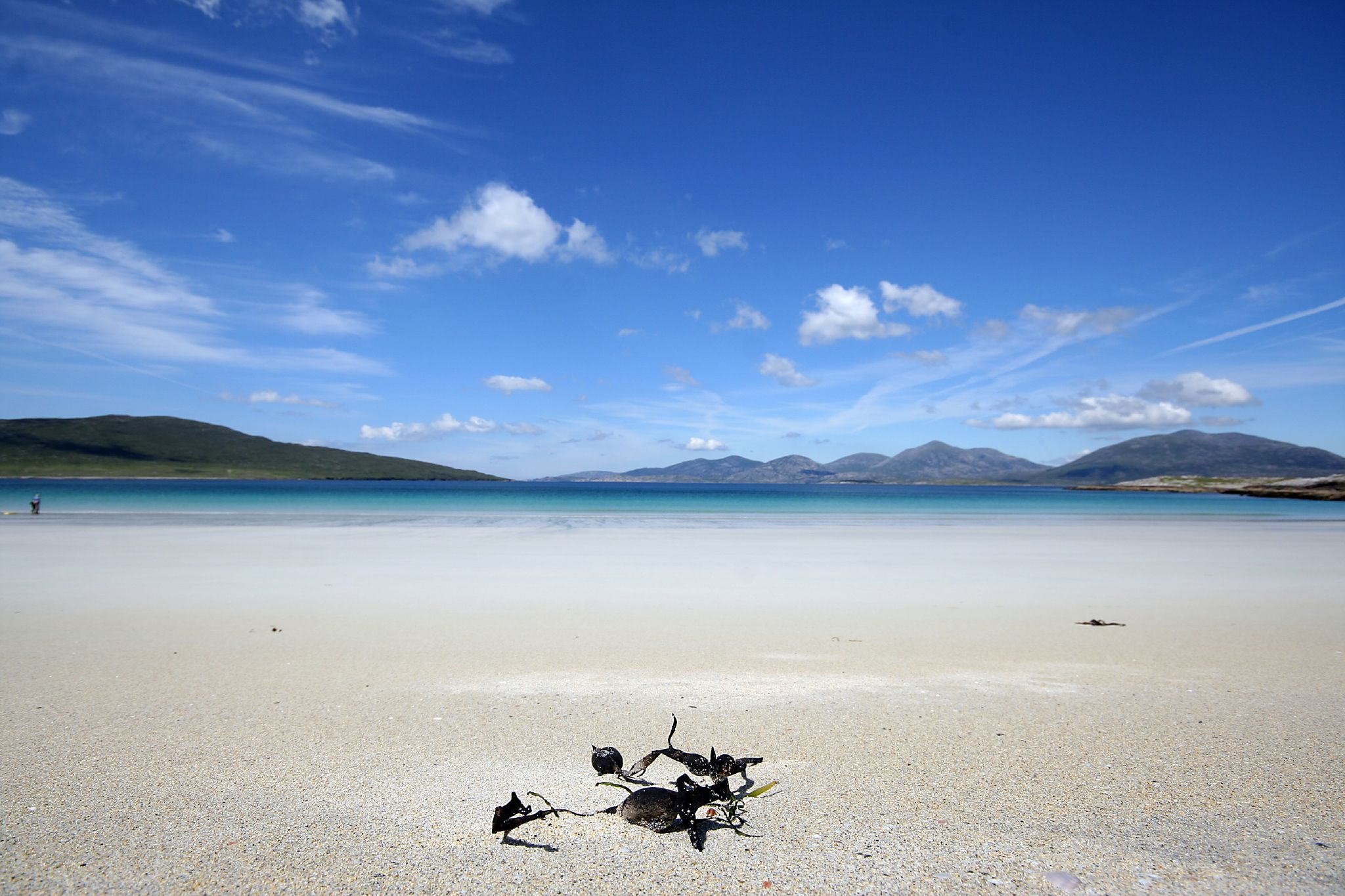 Taransay from Luskentyre beach, Harris
