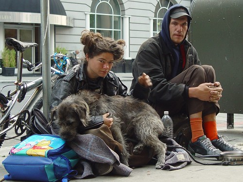 Homeless Couple with Dog in San Francisco | by Franco Folini