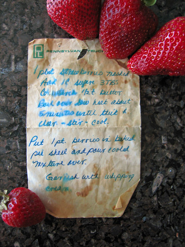 Strawberry Pie Recipe | by deb roby