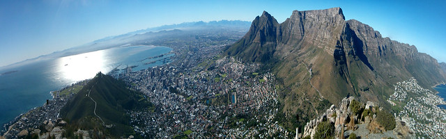 Table Mountain imposing on the City Bowl, Cape Town. Image: Jim Sher