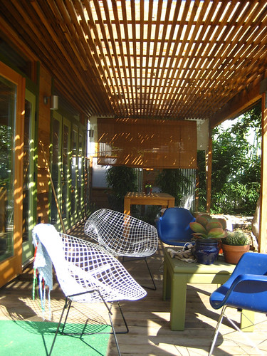 Outdoor Room The Trellis Casts Moving Shadows Across The