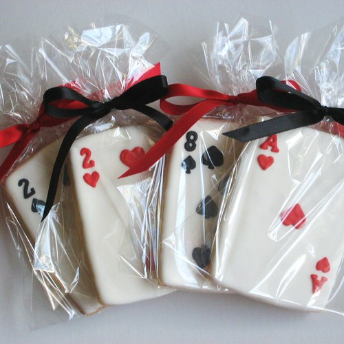 Hand-decorated Playing Card Cookies
