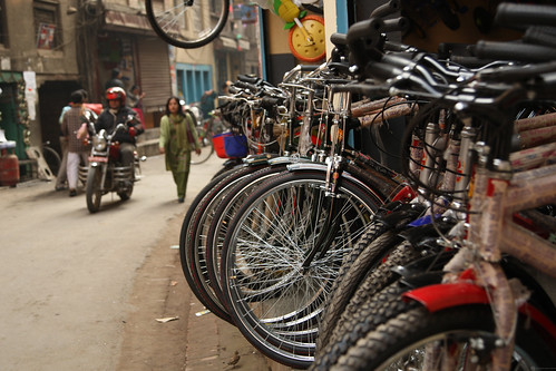 Street parking for bicycles in Kathmandu | by World Bank Photo Collection