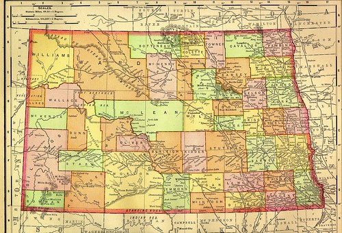 1895 Railroad Map of North Dakota | by BrianSwan