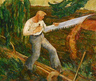 Ernest Ralph Norling: The Timber Bucker, 1934 | by americanartmuseum