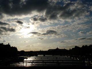 Sunset over the river Seine | by Claudecf