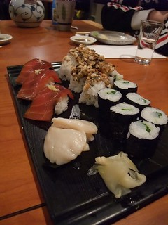 Sushi Hachi - Marinated Red Tuna, Seared Scallop, Hachi roll and Ika ...