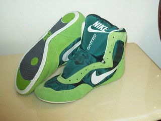 green nike wrestling shoes