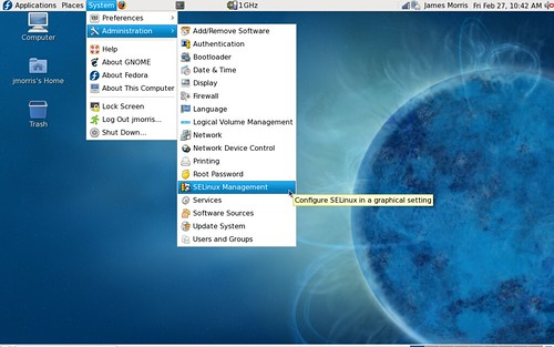 SELinux administration in Fedora 10 | by x_jamesmorris