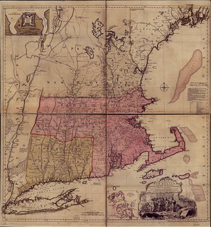 A map of the most inhabited part of New England, containing the provinces of Massachusets Bay and New Hampshire, with the colonies of Conecticut and Rhode Island, divided into counties and townships: | by uconnlibrariesmagic
