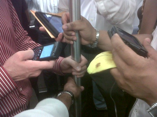 So many gadgets on the subway these days | by arvindgrover