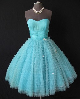 Strapless 50's Prom dress | by my_vintage_studio