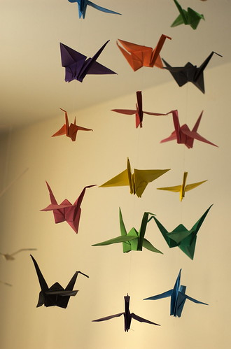 Japanese Classroom Decor : Paper crane mobile flickr photo sharing