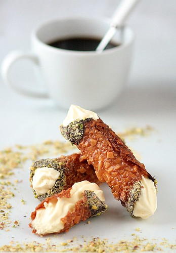 Nougatine Cannoli With Vanilla Mousse | by tartelette