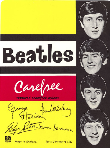 Beatle Stockings Label 1964 | by Vermont Ferret