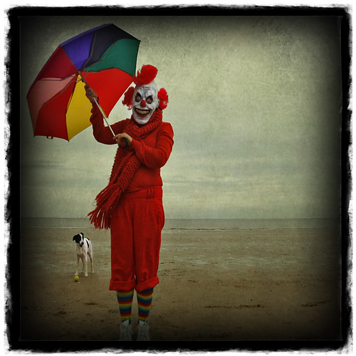 clown and dog @ seaside | by blue beany