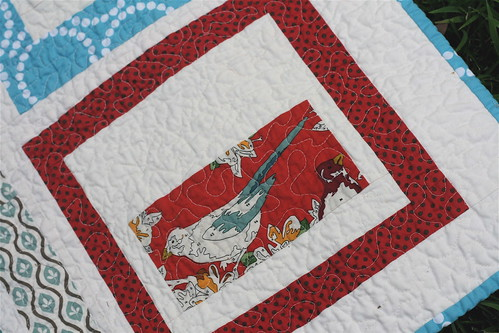 Red & Aqua Quilt - Detail2 | by alissahcarlton