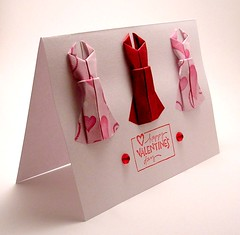 Mini Origami Dress Card Valentine | by kittykatkards