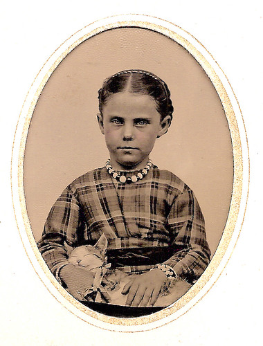 Girl with the Purring Cat, 1860s | by JFGryphon