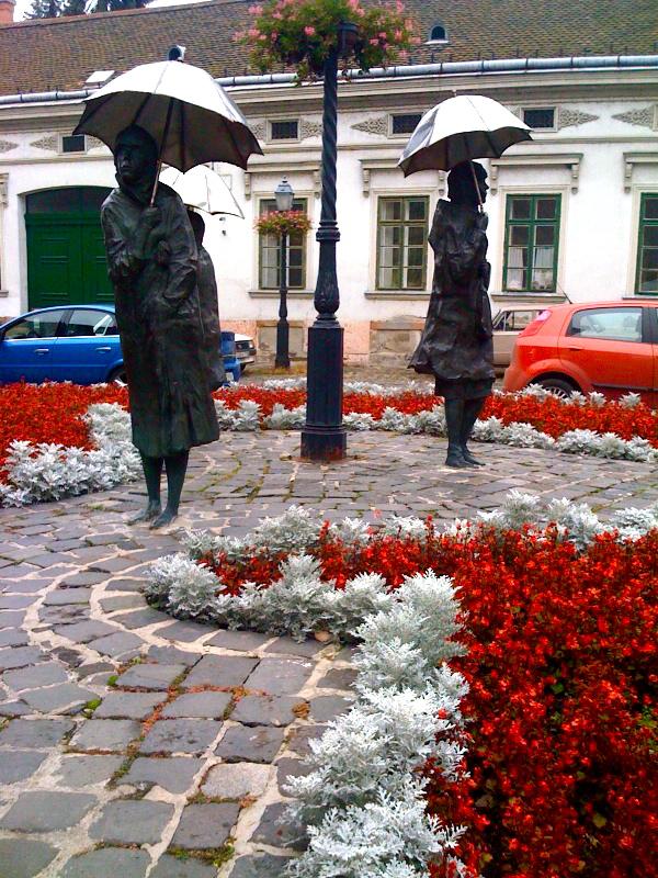umbrella ladies - obuda, budapest