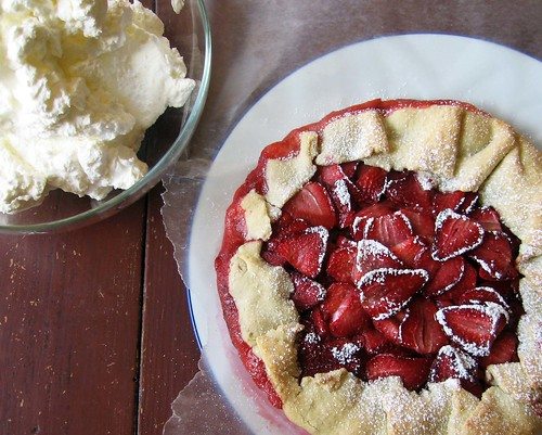 strawberry galette and cream | by Jess | Sweet Amandine