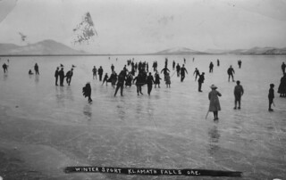 Ice skating near Klamath Falls, Oregon | by OSU Special Collections & Archives : Commons