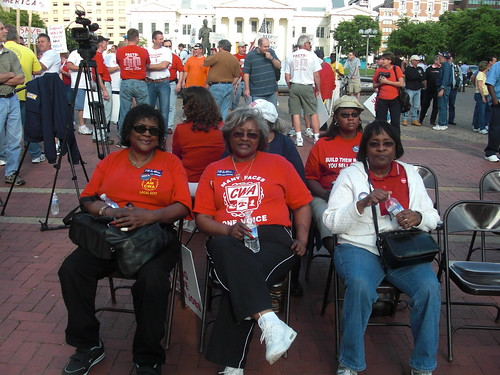 Steel working ladies at St. Louis rally | by Alliance for American Manufacturing