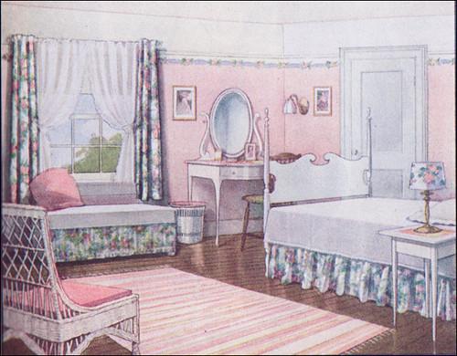 1916 pink summer bedroom source ladies home journal from