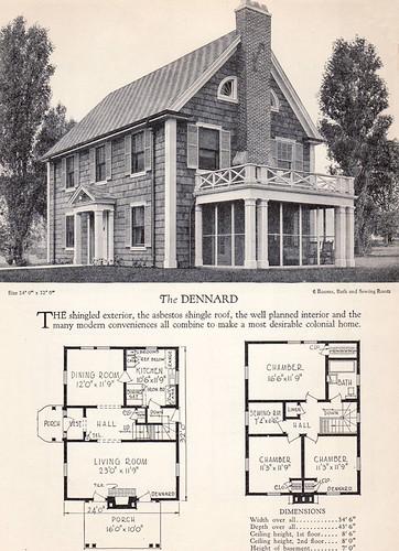 1928 Home Builders Catalog The Dennard