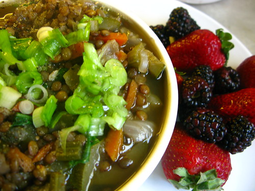 Lentil Soup and Berries